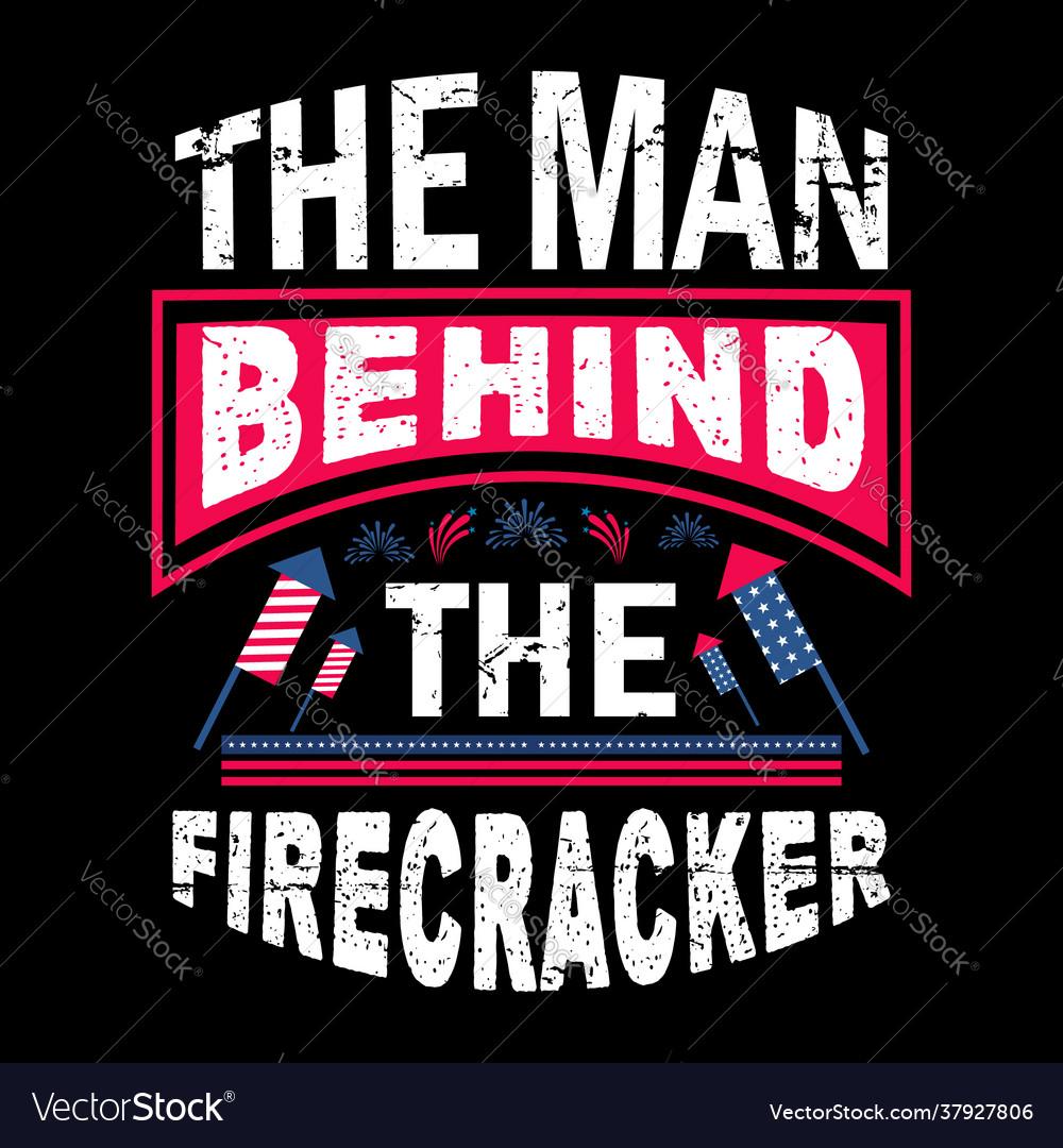 Man behind firecracker