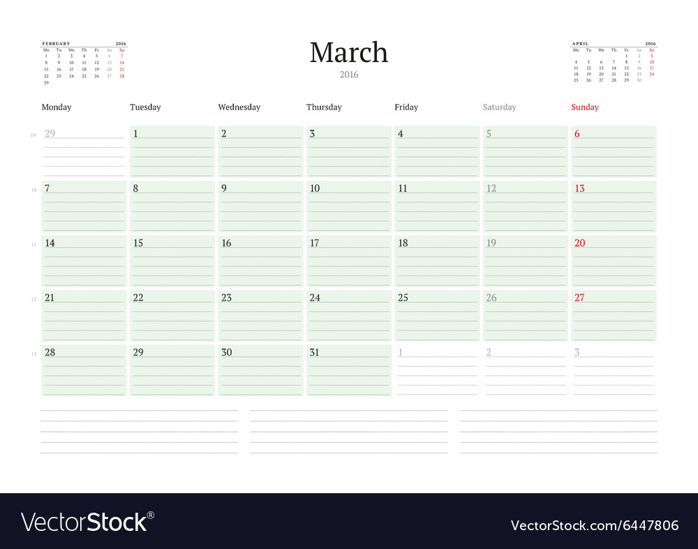 Monthly Diary Planner Calendar February 2017 Uk Bank Holidays Excel