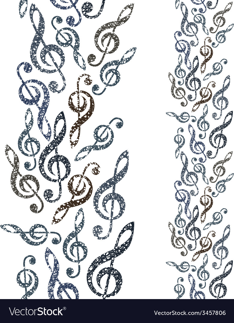 Music theme seamless background vertical