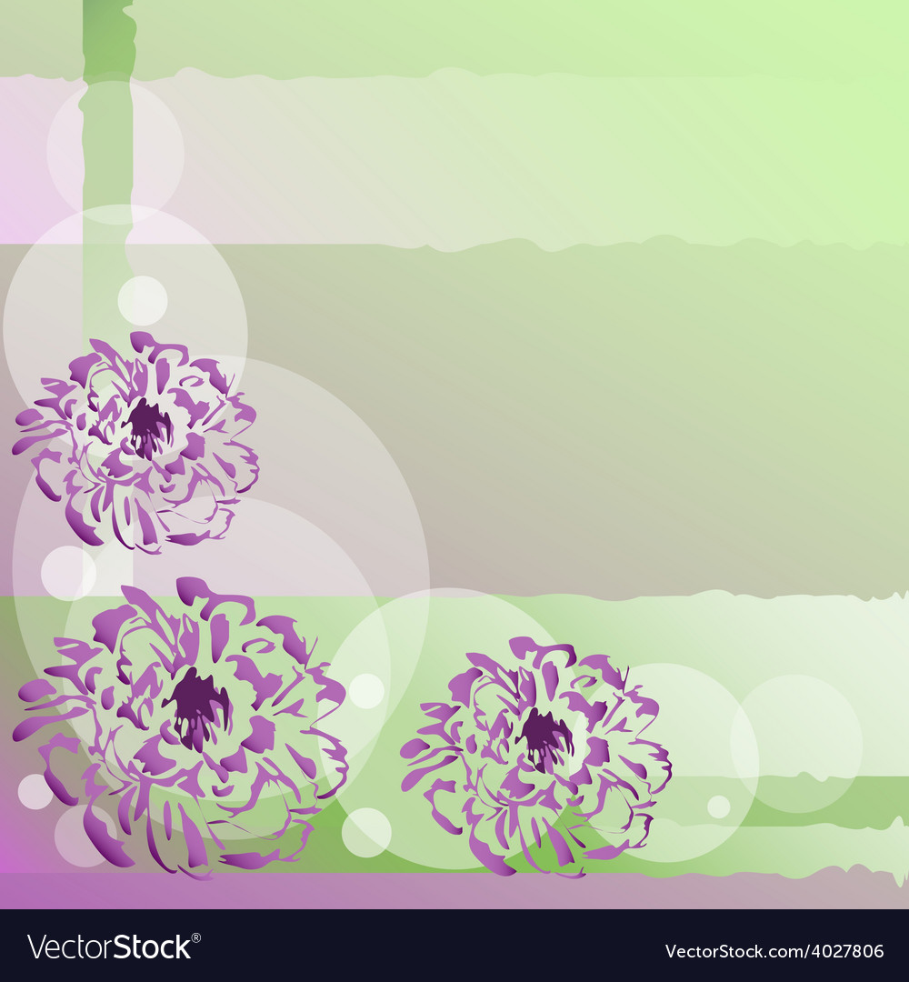 Nice background with flowers vector image