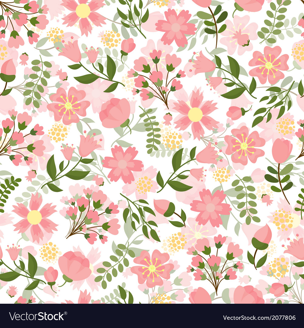 Seamless Spring Floral Background Royalty Free Vector Image