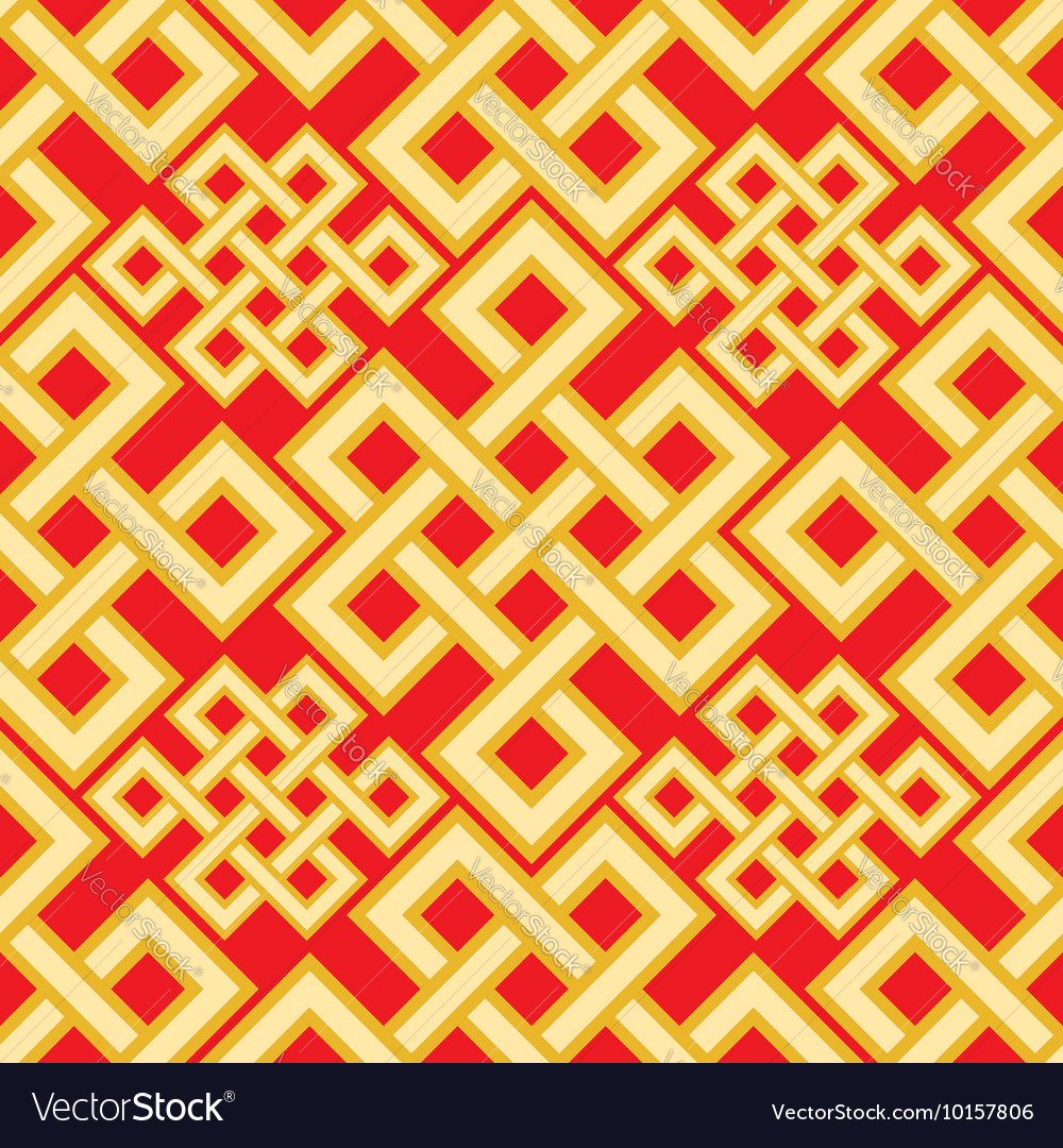 The endless knot seamless pattern Graphic ornament