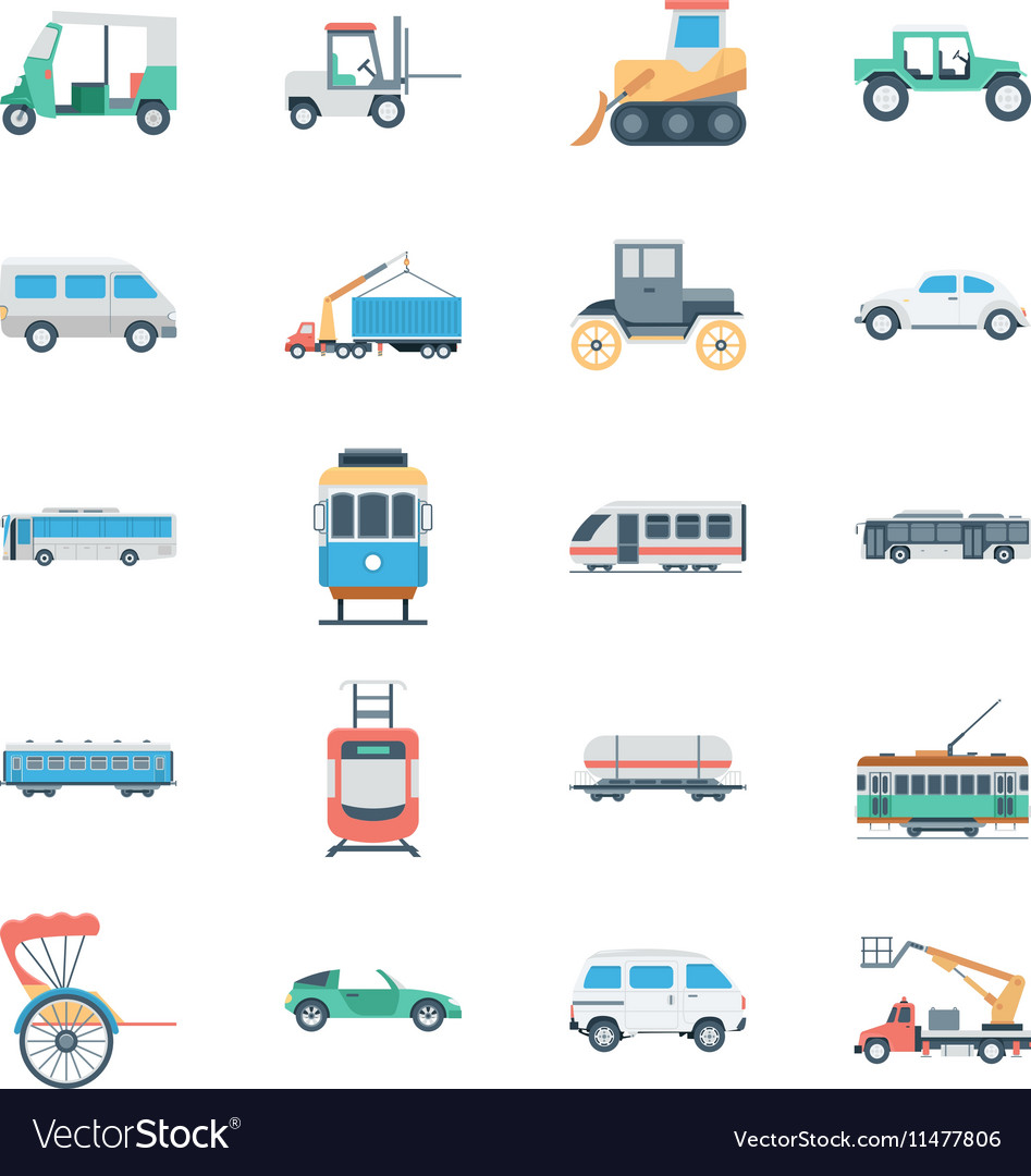 Transports Colored Icons 3