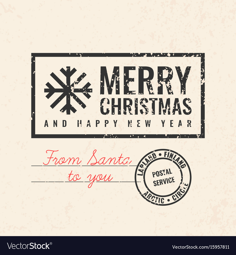 2017 merry christmas and happy new year vector image