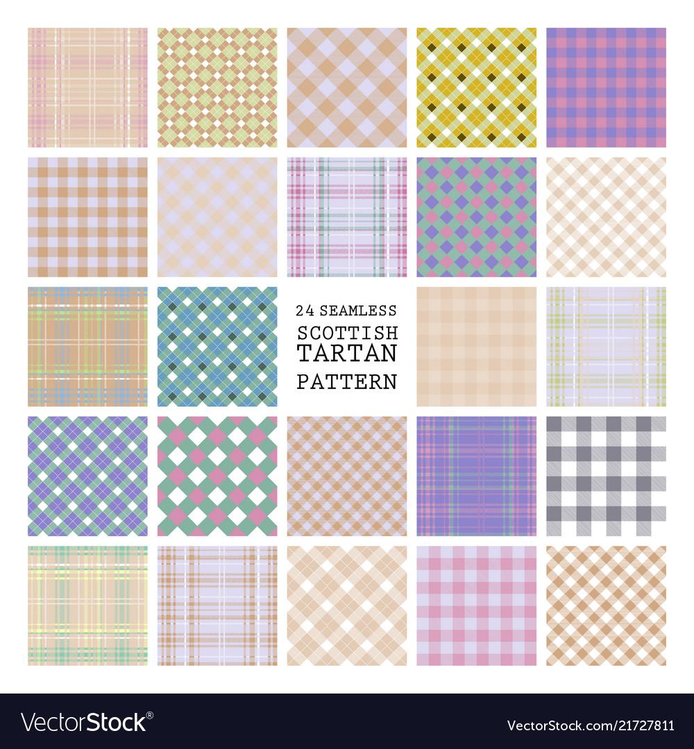 24 tartan seamless pattern