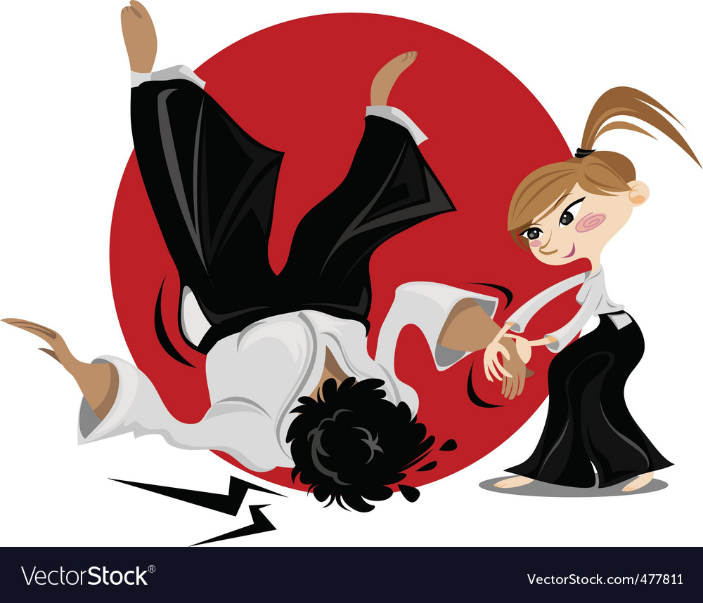 Aikido female vector image