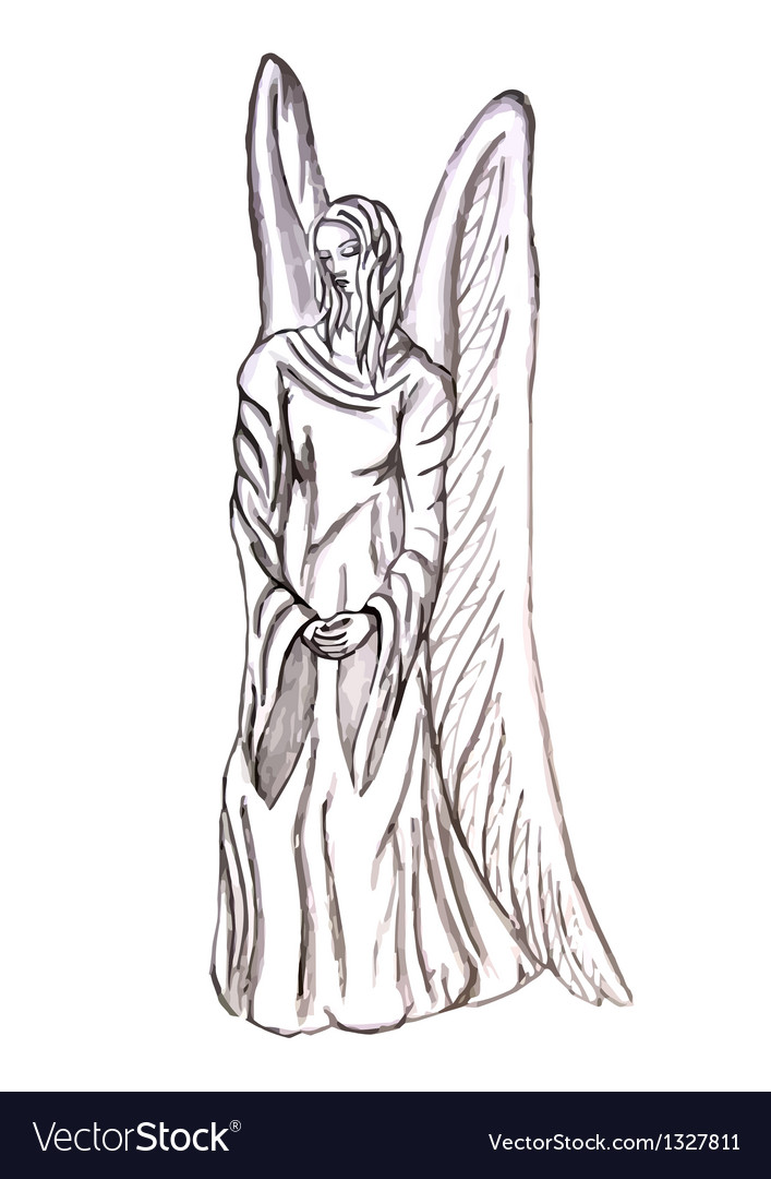 Angel statue vector image