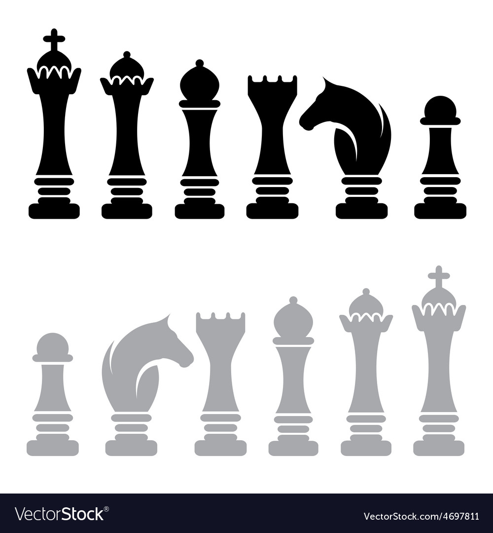 chess icons design template royalty free vector image