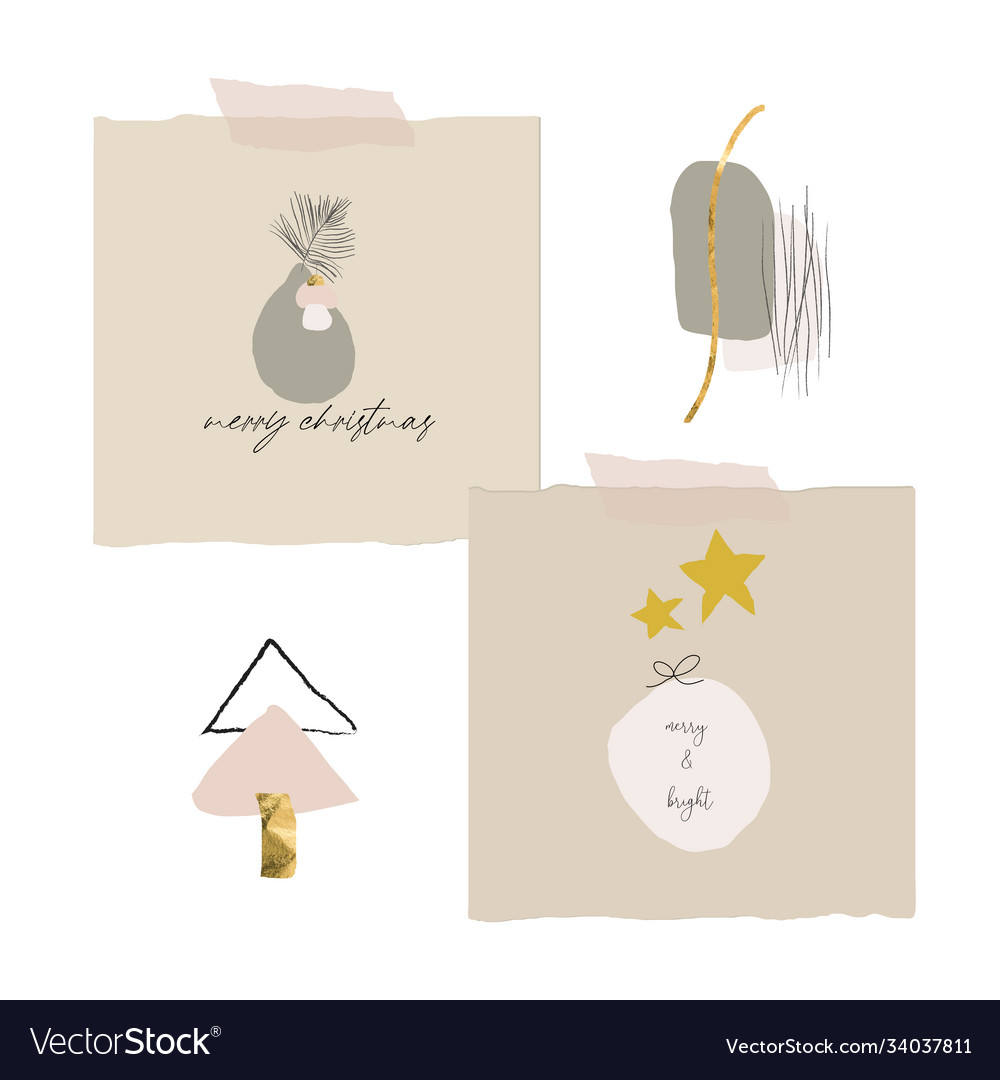 Cute modern abstract christmas clip art