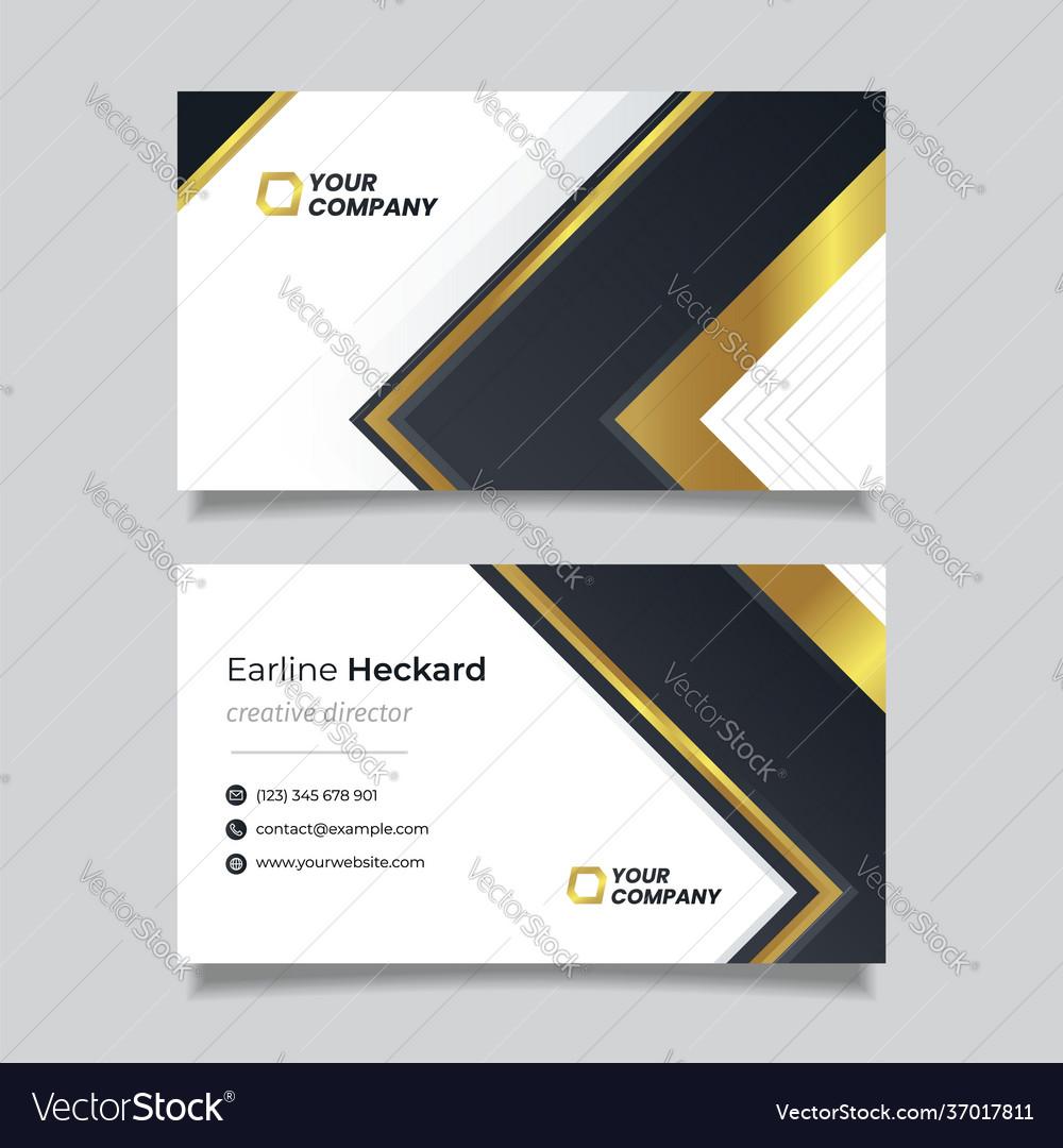 Golden luxury modern business card template