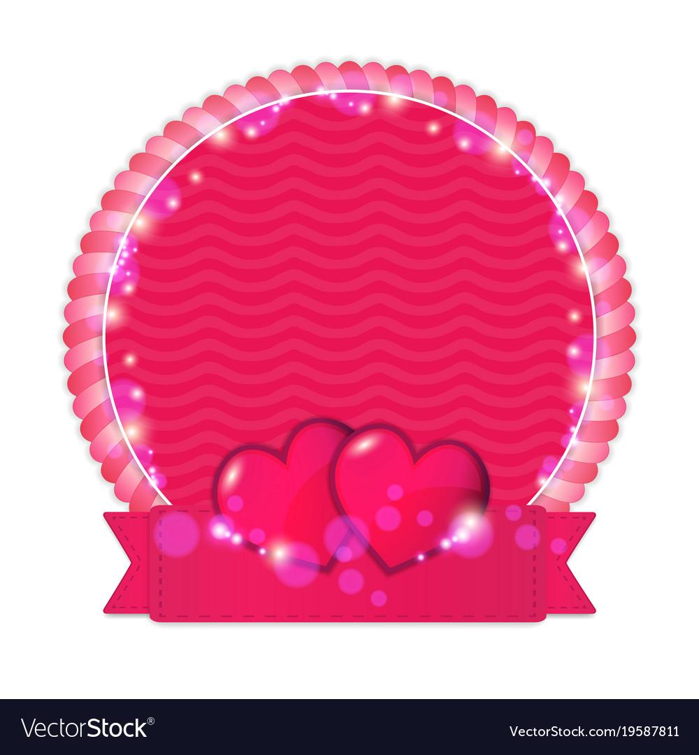 Happy valentine s day label