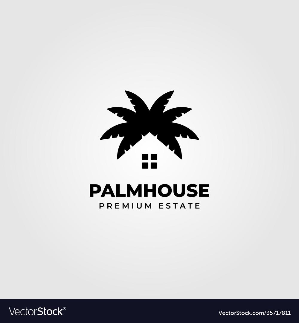 Palm house creative logo clever minimalist design