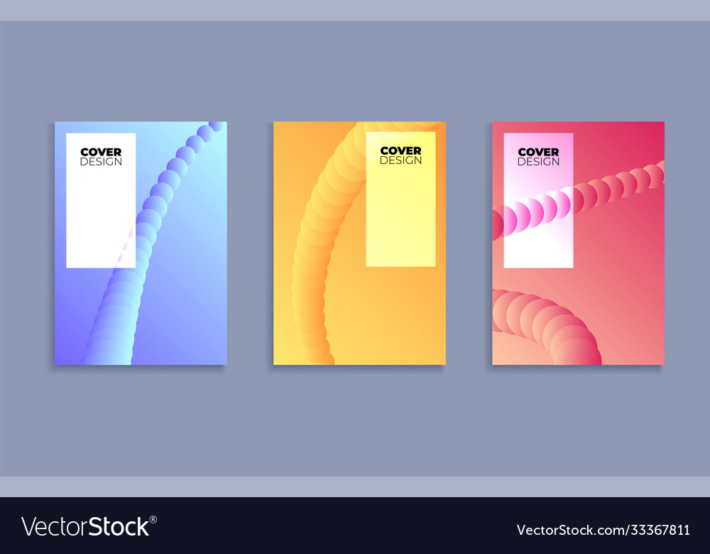 Set covers design templates with vibrant