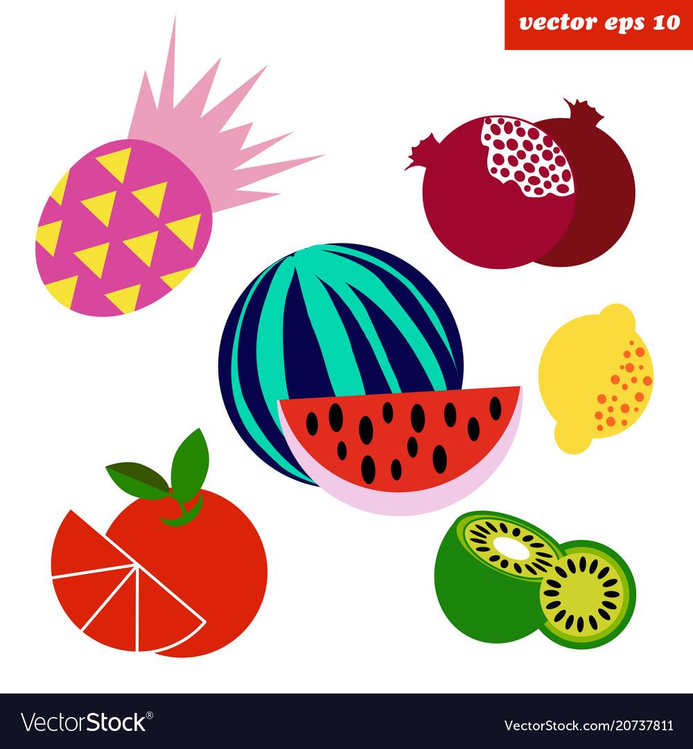 Simpletropical fruit set