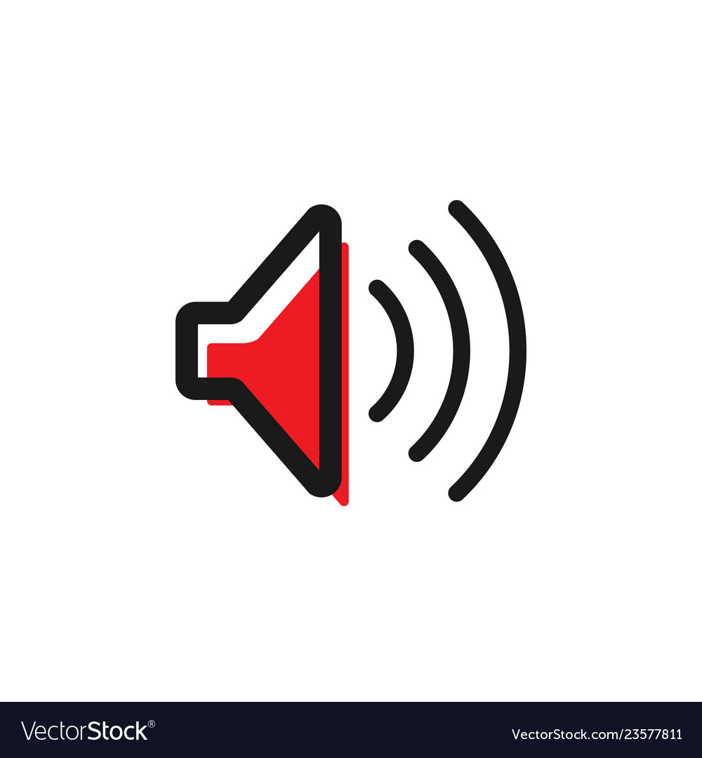 Speaker icon graphic design template