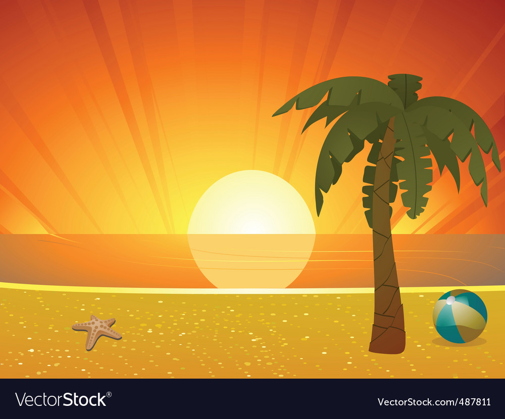 palm tree silhouette clip art. water Beach+sunset+clipart