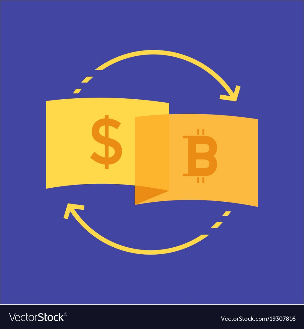 Currency dollar to bitcoin logo design