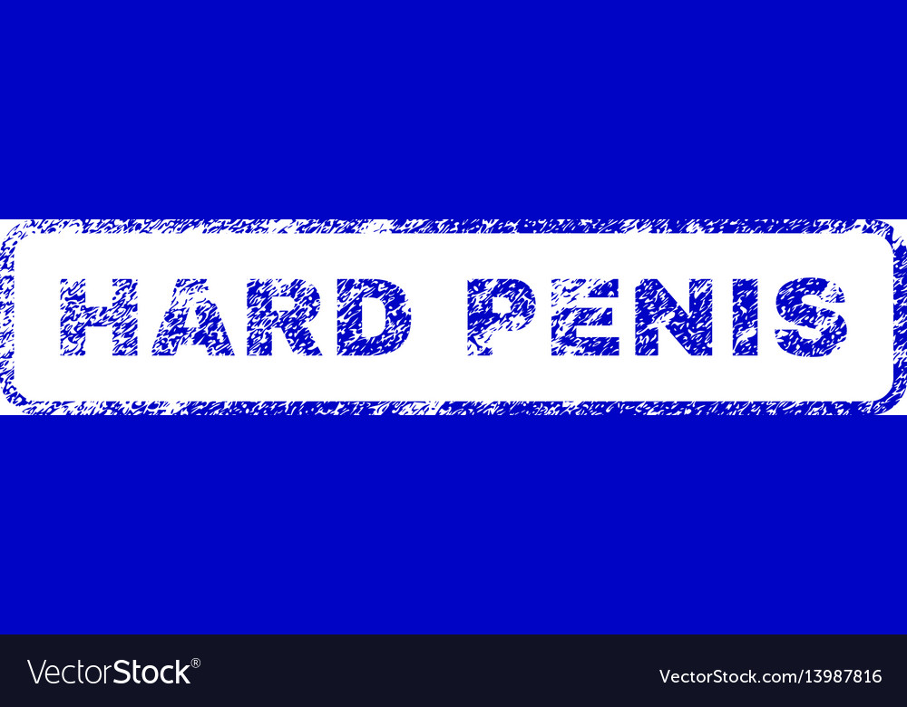 Hard penis rubber stamp