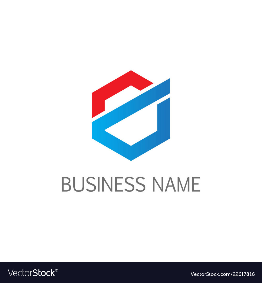 Polygon line abstract business logo