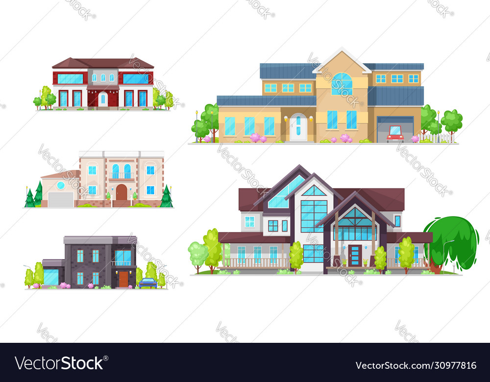 Residential villas mansions and family houses