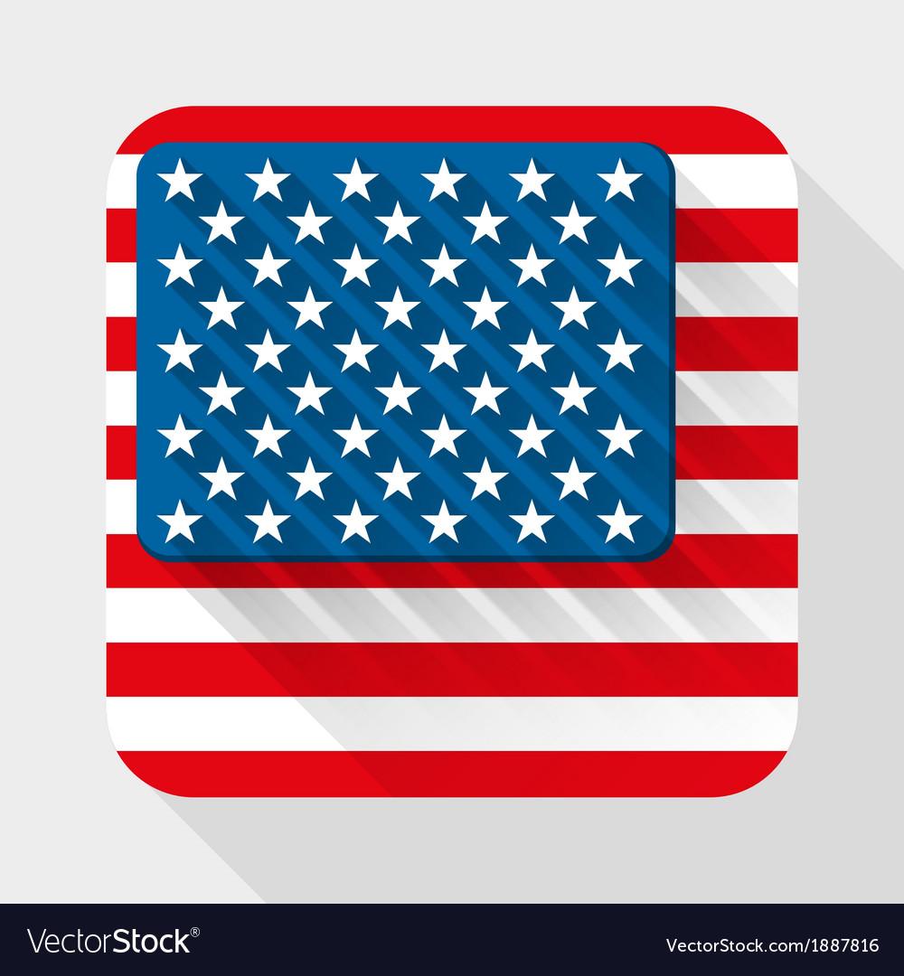 simple flat icon with usa flag royalty free vector image rh vectorstock com Checkered Flag Vector 5.0 Star US Flag Vector Art