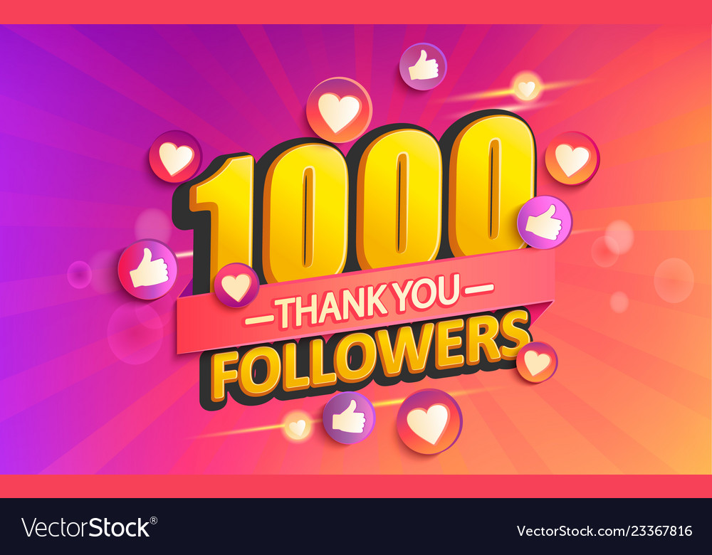 Thank you 1000 followers banner