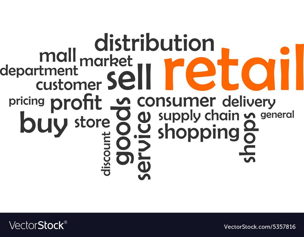 Word cloud retail vector image