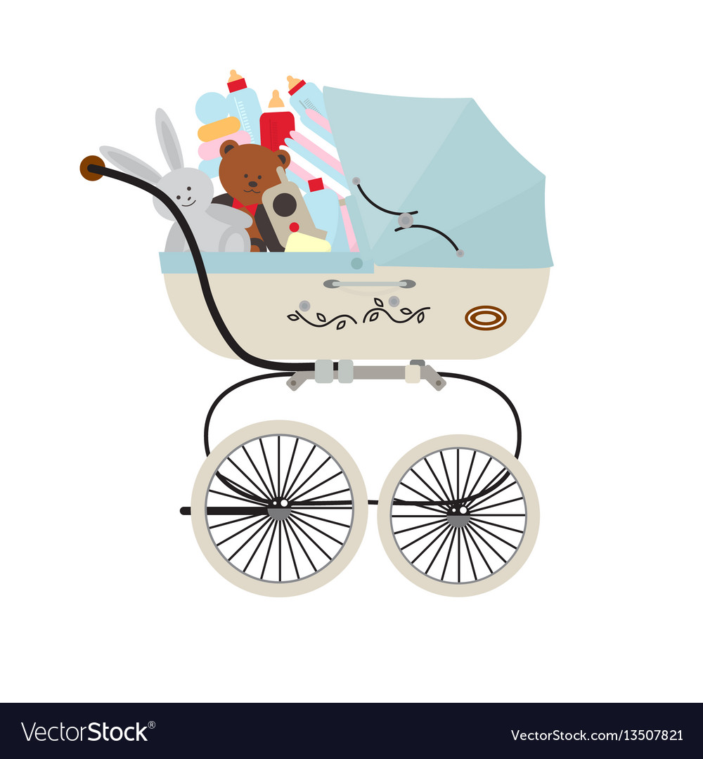 Child carriage with baby accessories