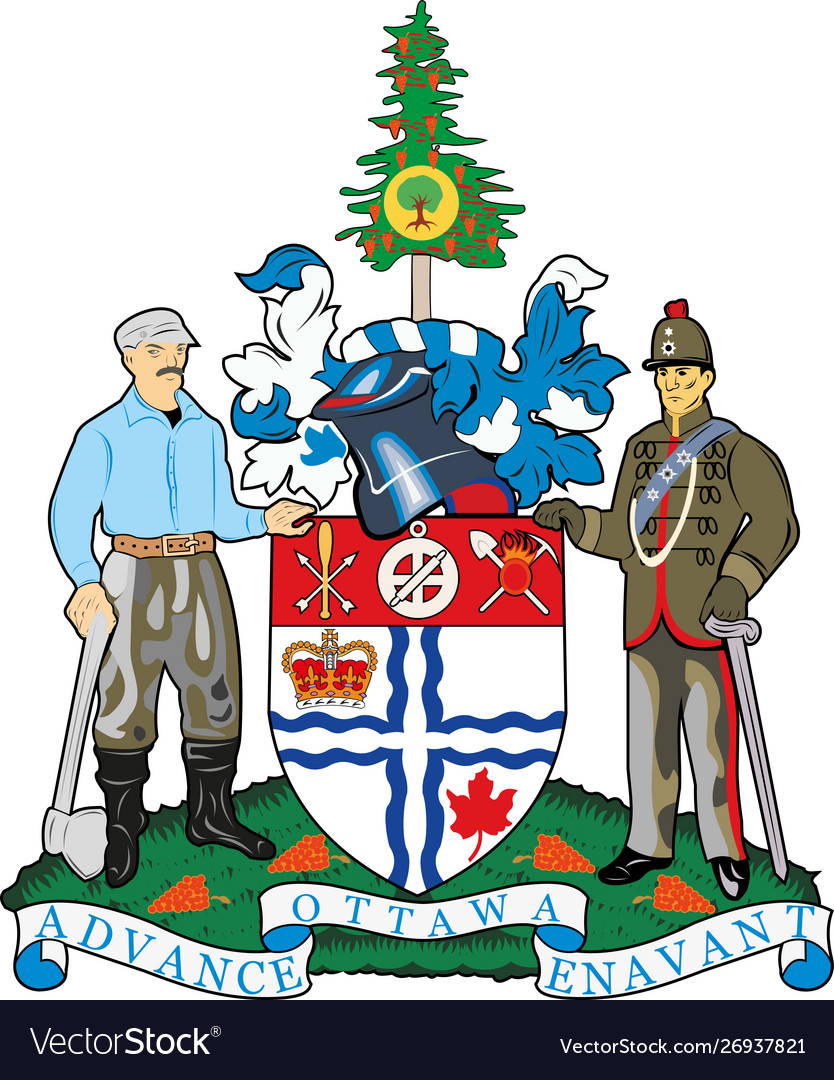 Coat arms ottawa is one 13 provinces