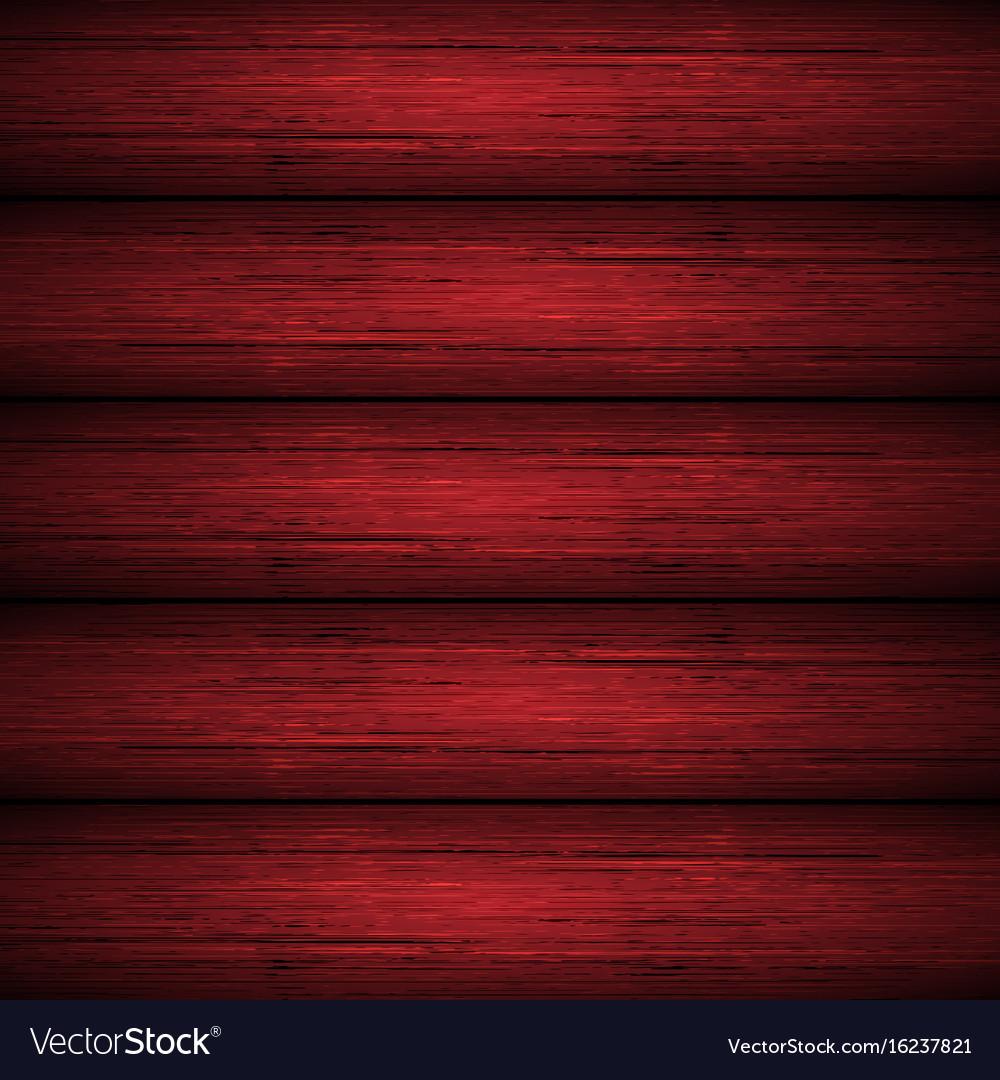 Dark Red Wooden Planks Texture Vector Image