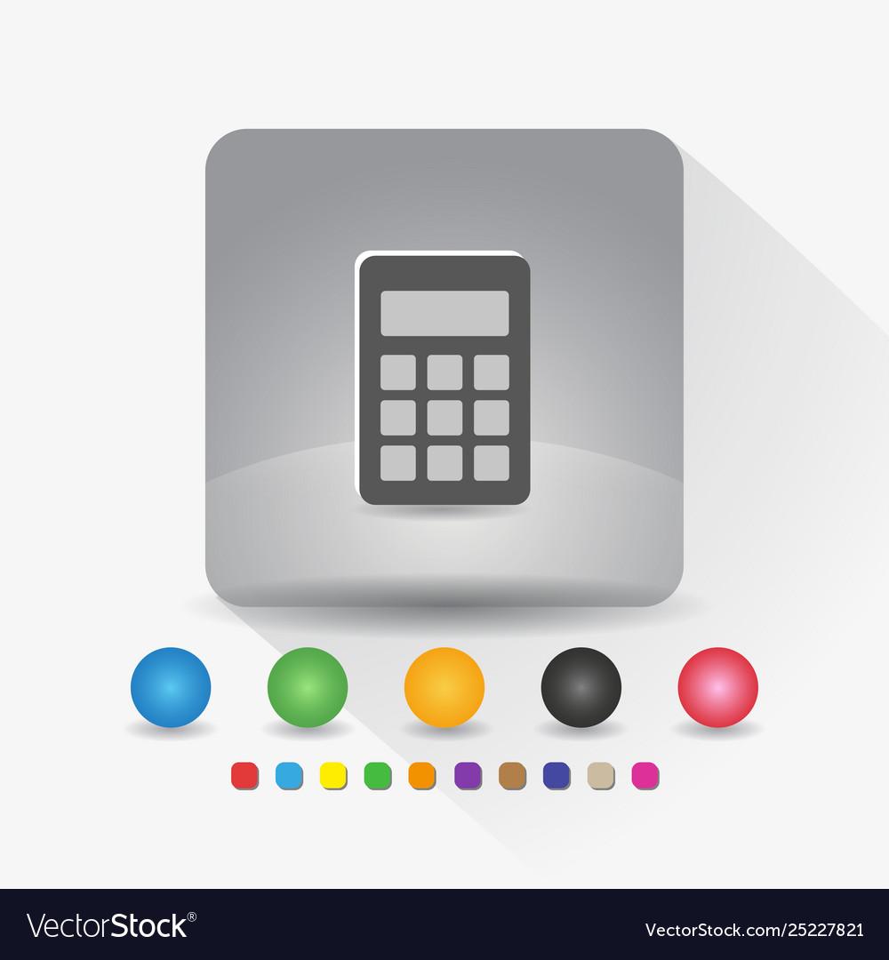 Digital calculator icon sign symbol app in gray