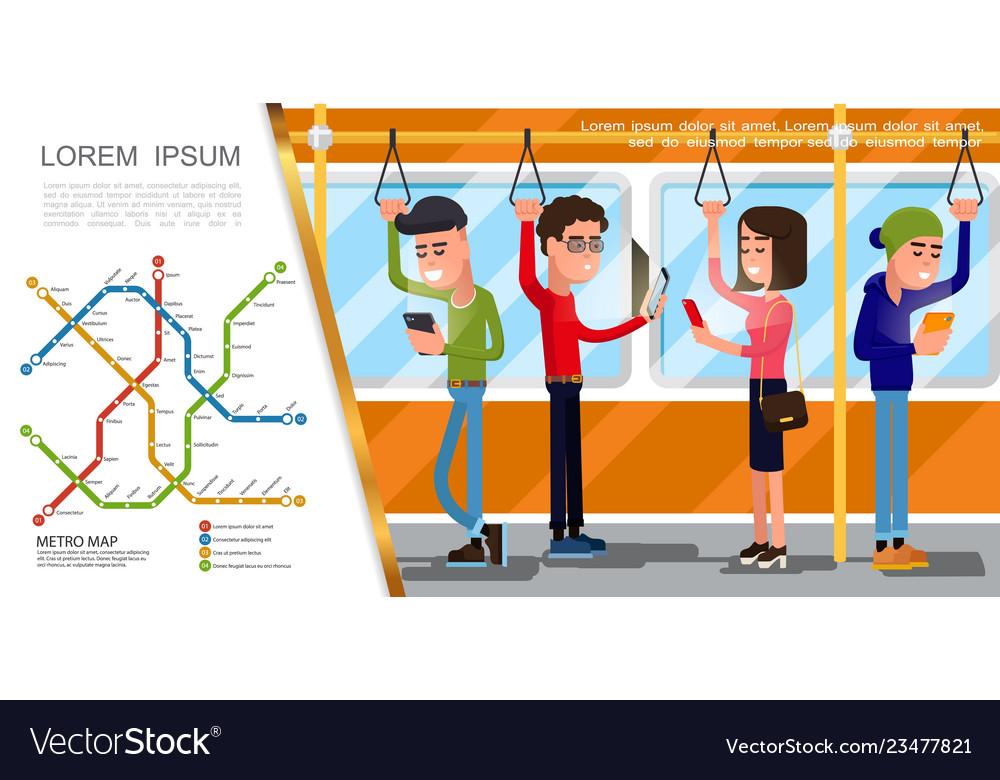 Flat public transport composition