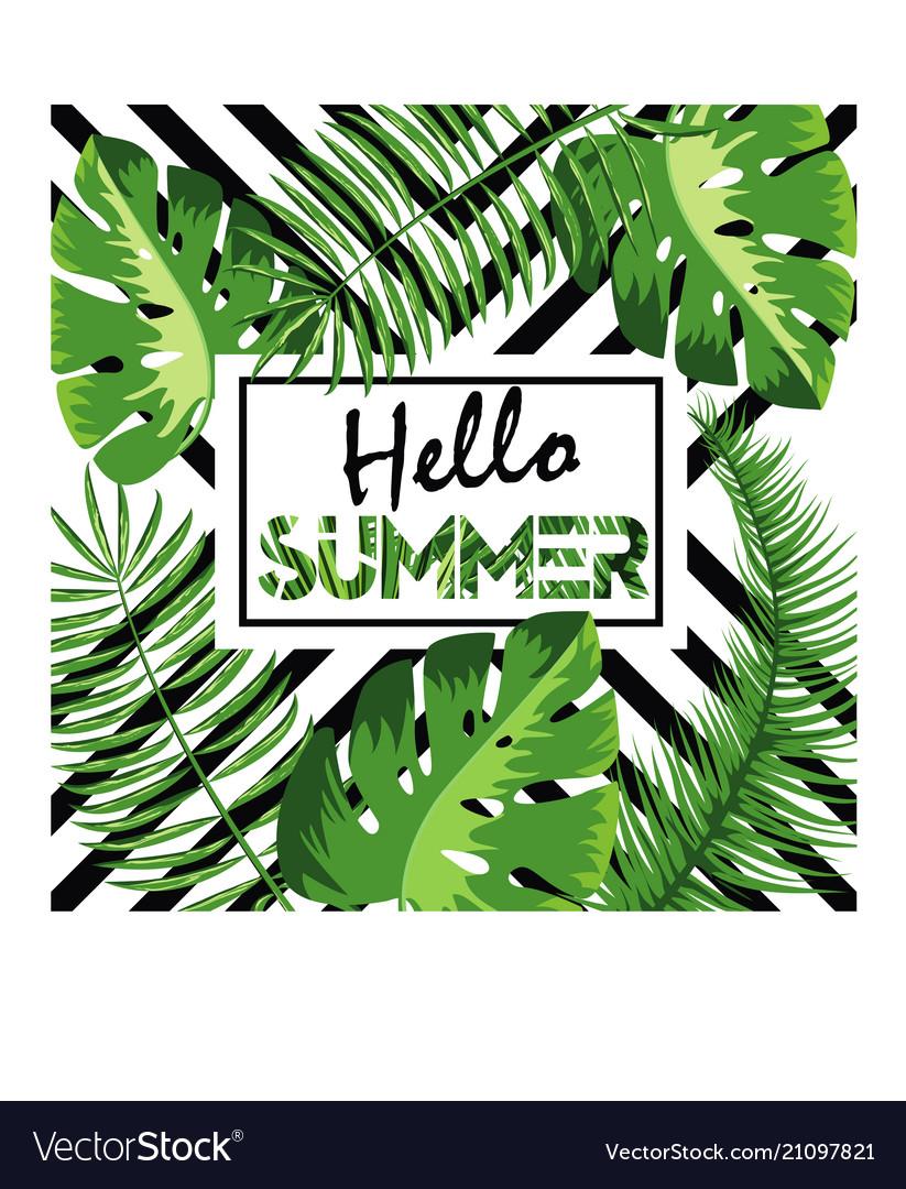 Hello summer background fun