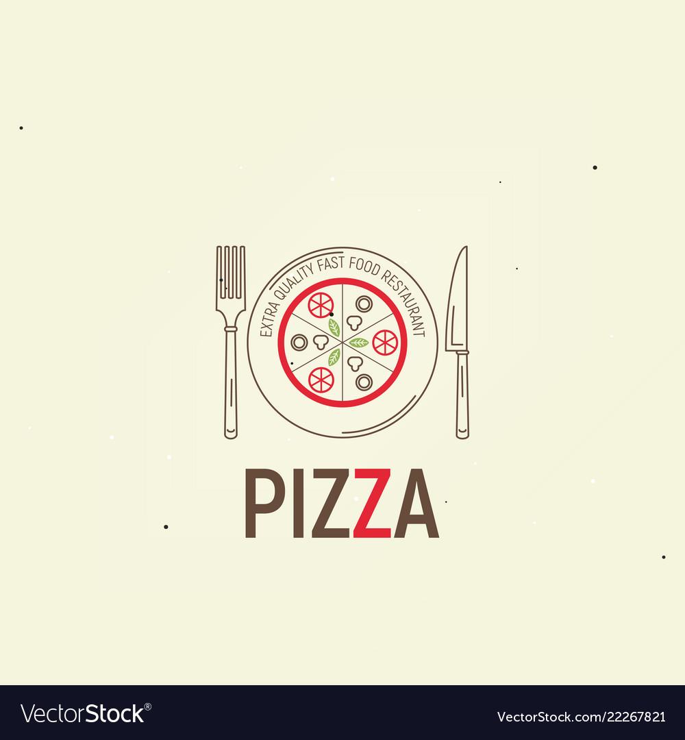 Pizza template menu