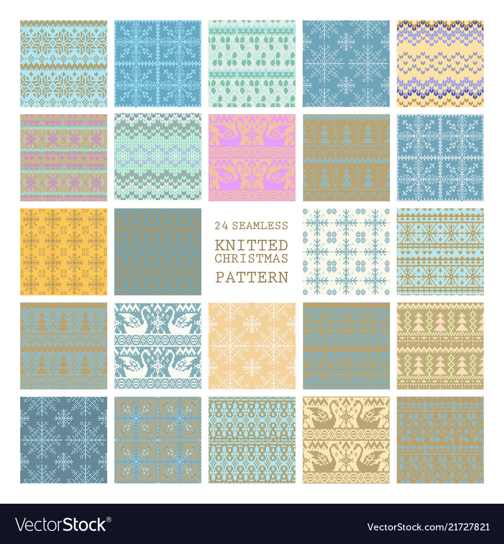 Set winter seamless backgrounds