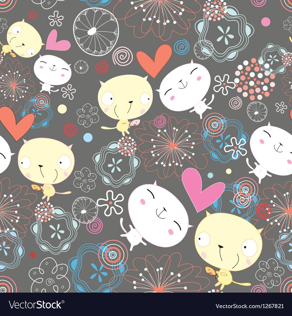 Texture of love kittens