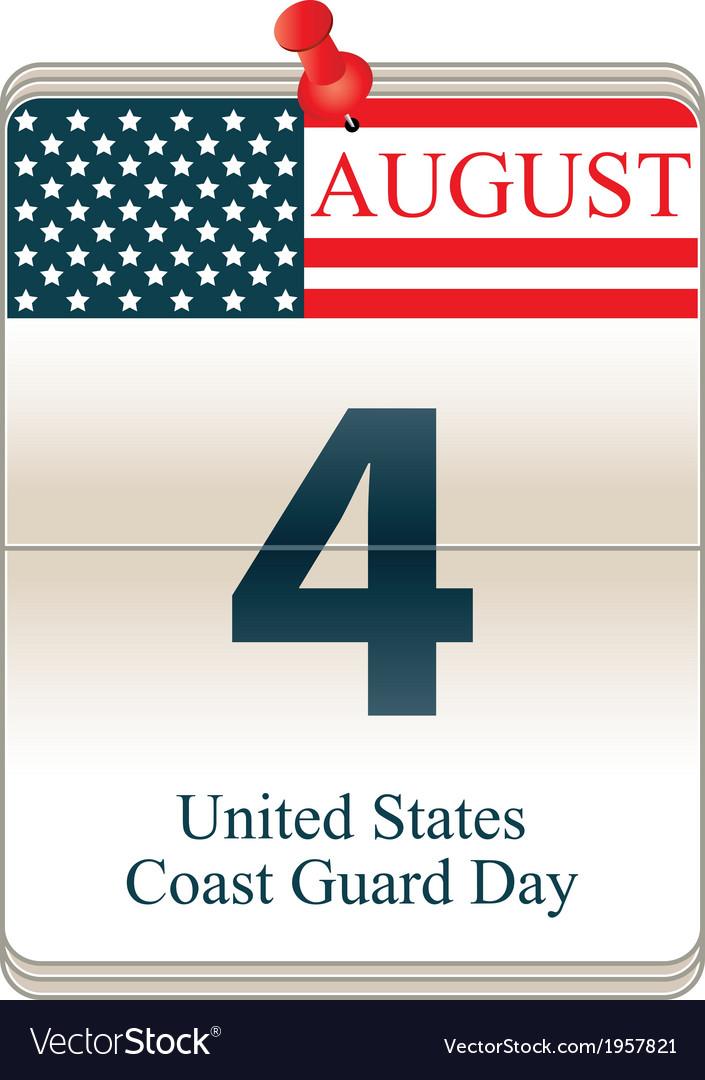 United States Coast Guard Day vector image
