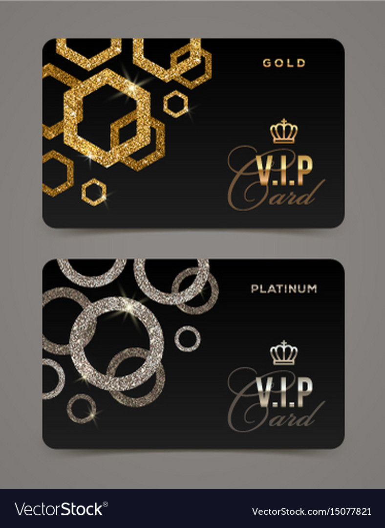 Vip golden and platinum card template royalty free vector vip golden and platinum card template vector image publicscrutiny Gallery
