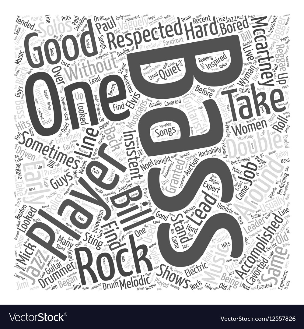 bass players word cloud concept vector image