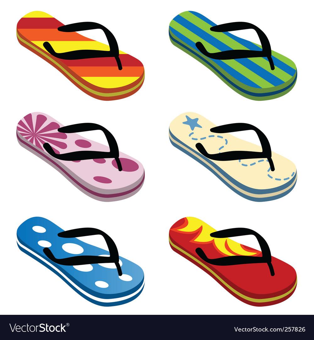 Beach sandals vector image