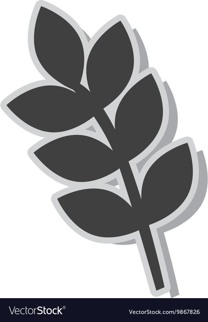 Bouquet of leaves isolated flat icon vector image