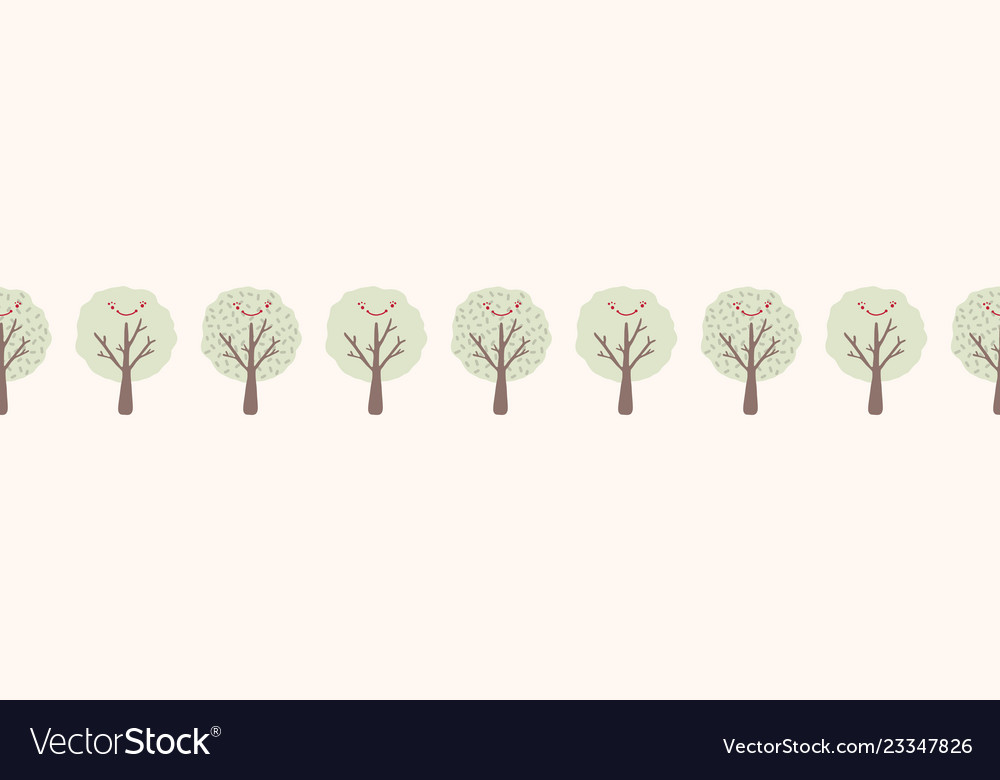 Cartoon Tree Seamless Border Hand Drawn Royalty Free Vector 50,000+ vectors, stock photos & psd files. vectorstock