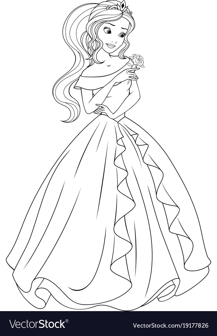 Coloring the beautiful princess