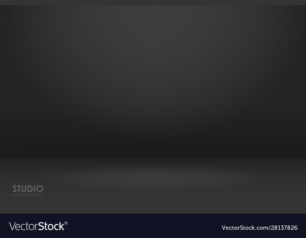 Empty black studio room used as background