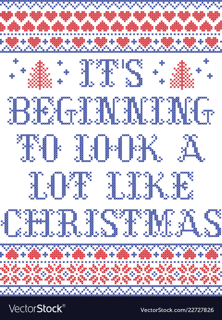 Its beginning to look a lot like christmas Vector Image