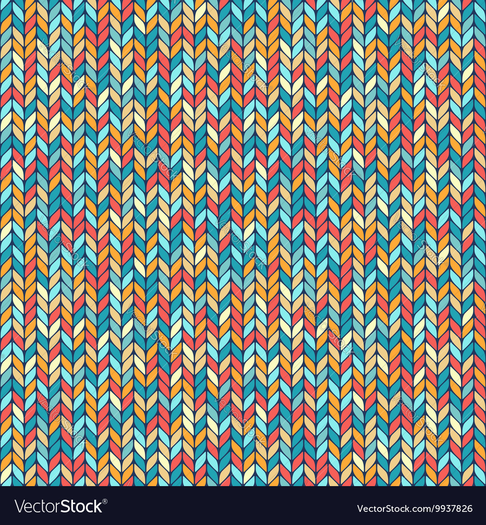 Melange knitted seamless background pattern