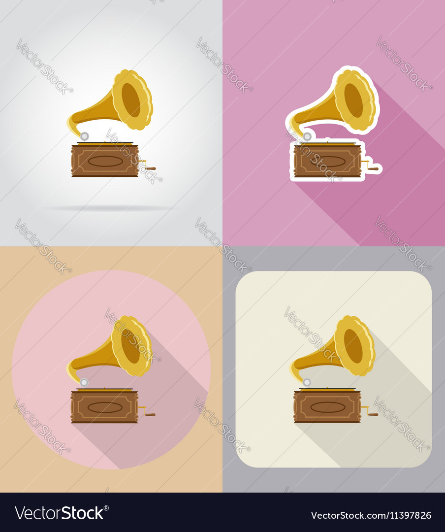 Multimedia flat icons 16 vector image