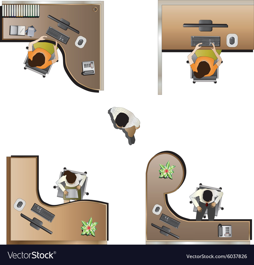 office furniture top view set 9 royalty free vector image
