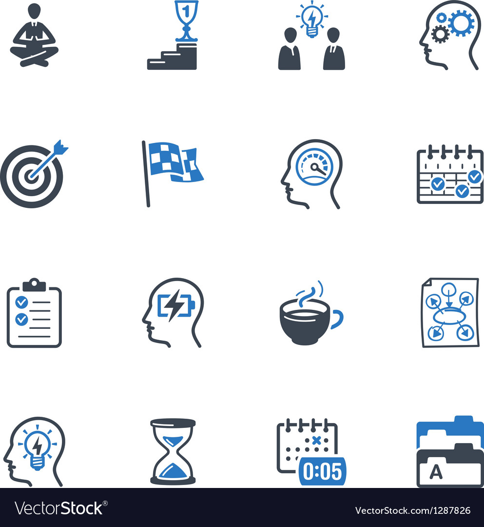Productive at Work Icons - Blue Series