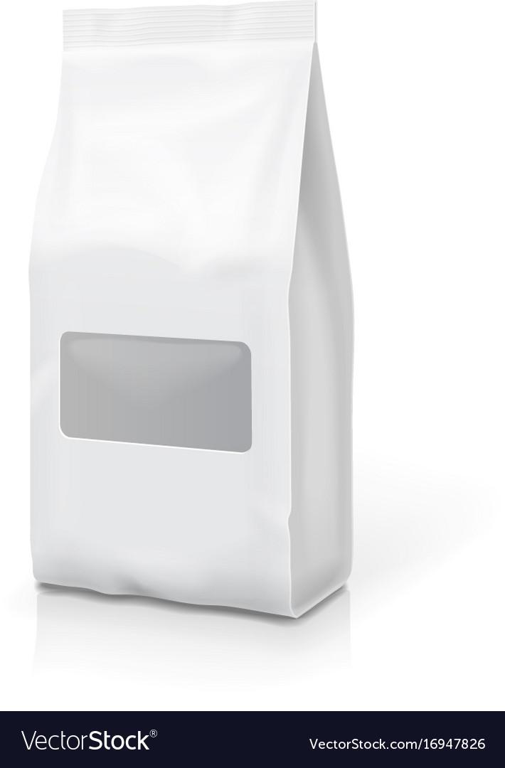 Tea coffee foil or paper package pack snack bag